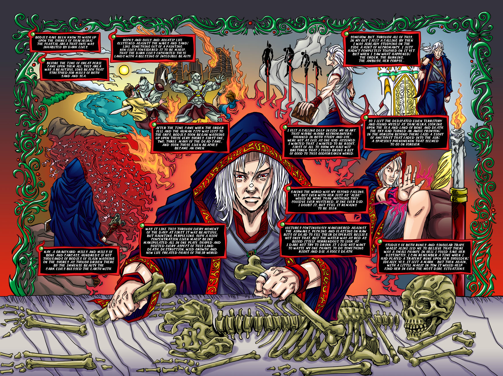 "Beastlore, Issue #1, ""Death Magnetic"" – Page Two & Three"